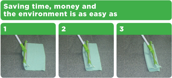 Saving time, money, and the environment is as easy as 1, 2, 3.